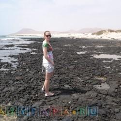 Пляж из засохшей лавы