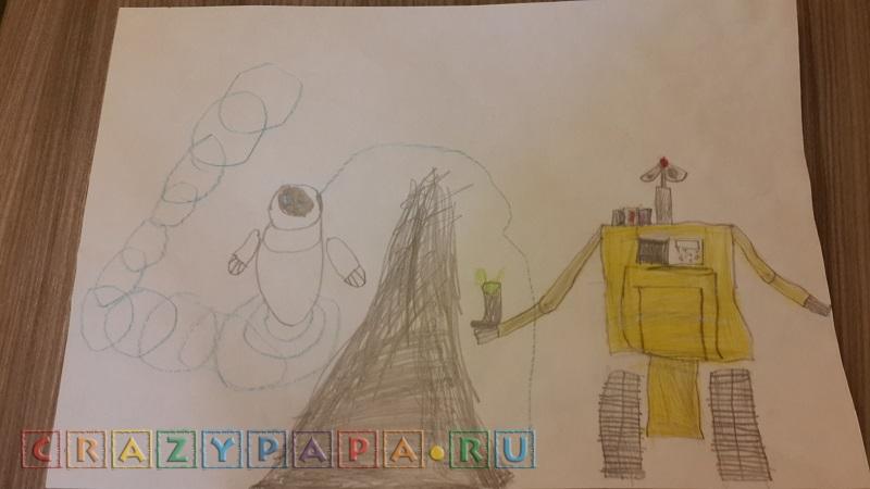 Нарисованный экспромтом Wall-e!