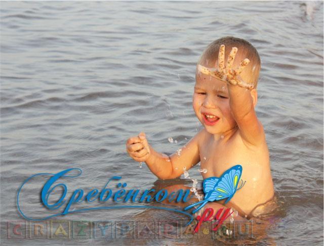 Крейзи Рома ребенок на море
