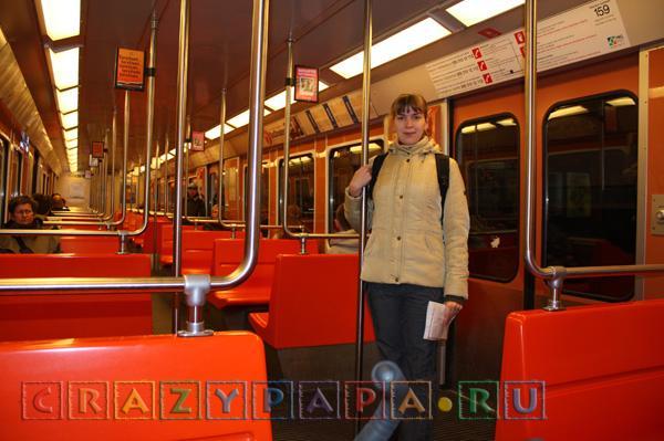 метро в Хельсинки Финляндия поезд метрополитена