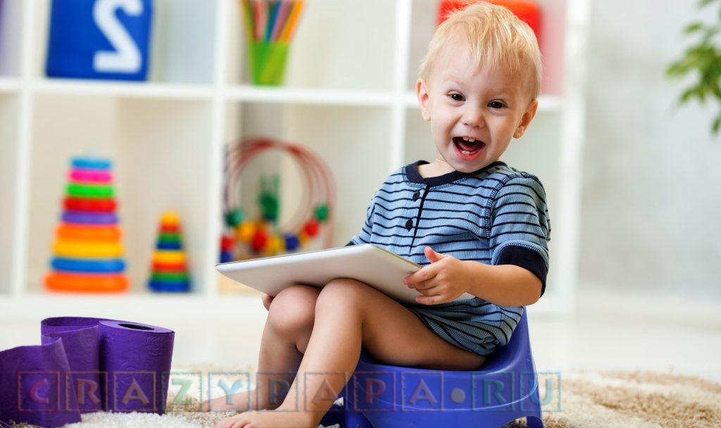 Как приучить к горшку ребенка 2 лет