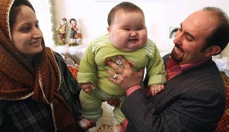 крупный ребенок при худом отце