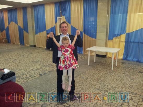 Наш друг и спонсор посещения первых рядов представления Дима с Анечкой