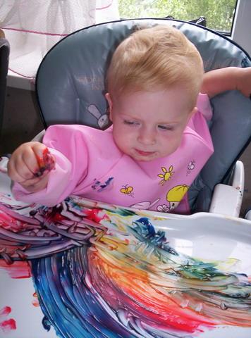 Особые приемы рисования пальчиковыми красками - рисуем пальцами!
