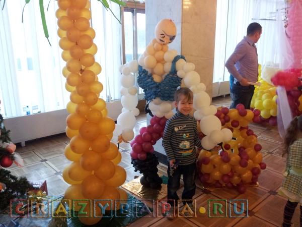 Воздушные шары в форме пиратов